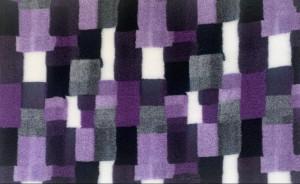 VETBED DELUXE Paklājs ar gumijotu pamatni no bieza materiāla - Violets rūtains