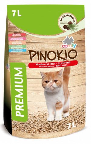 COMFY Pinokio Premium+ - cementējoši skaidu pakaiši kaķu tualetēm 7L