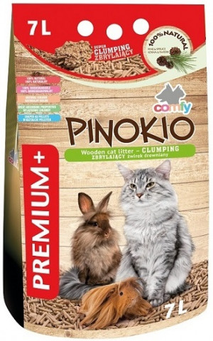 COMFY Pinokio Premium - absorbējošas granulas dzīvnieku tualetēm 7L