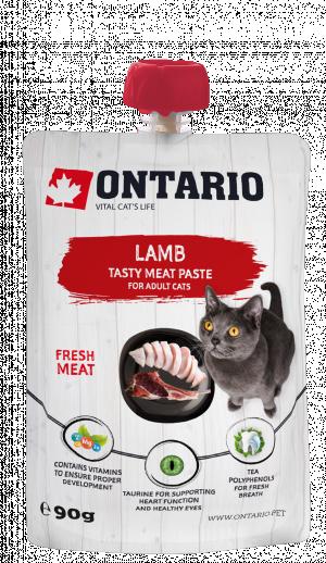 ONTARIO Lamb Fresh Meat Paste - gardums kaķiem 8 x 90g