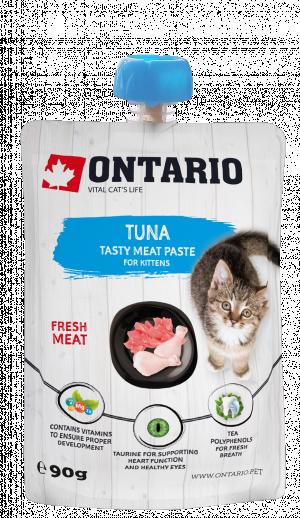 ONTARIO Kitten Tuna Fresh Meat Paste - gardums kaķēniem 8 x 90g