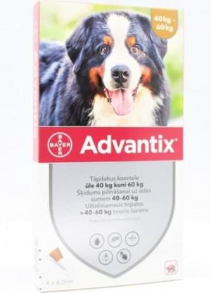 Advantix 3000 mg/600 mg šķīdums (pipetes) pilināšanai uz ādas suņiem 40-60 kg N1