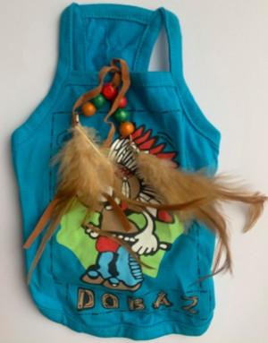 Dobaz - krekliņš suņiem, ar zīmējumu un spalvām