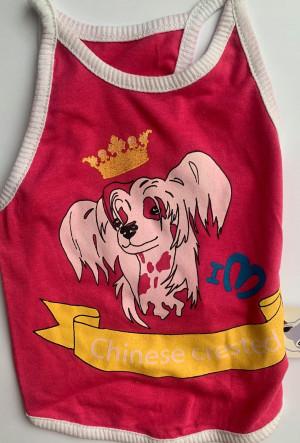 For My Dogs - krekliņš suņiem ''Ķīnas cekulainais suns'', rozā