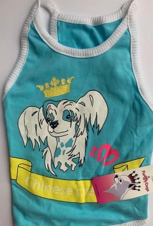 For My Dogs - krekliņš suņiem ''Ķīnas cekulainais suns'', zils