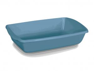 Comfy Cleo Classic Blue - tualete kaķiem, zila