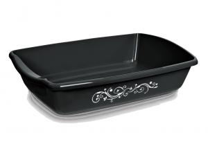 Comfy Cleo Decoline Black - tualete kaķiem, melna
