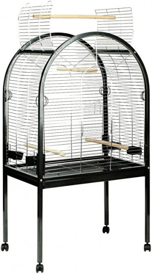 Duvo+ Parrot Cage pearl black - būris putniem 90 x 55 x 155сm