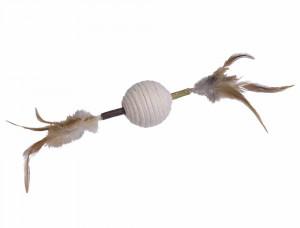 NOBBY Matatabi-Stick with rattle ball - rotaļlieta kaķiem ar grabuli un spalvām