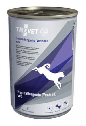 TROVET Hypoallergenic Dog /VPD with Venison - konservi suņiem 6 x 400g