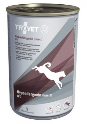 TROVET Hypoallergenic Dog /IPD Insect - konservi suņiem 6 x 400g