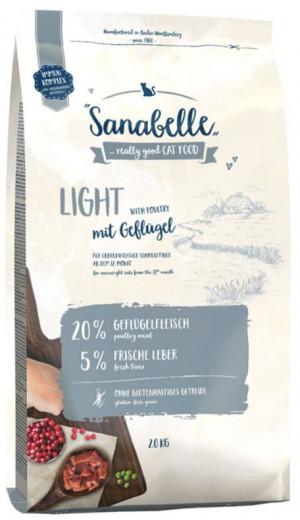 SANABELLE Light - sausā barība kaķiem 2kg