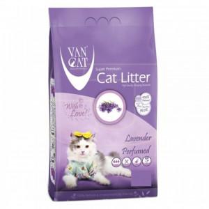 VAN CAT Compact Lavander - cementējošas smiltis kaķu tualetei, ar lavandu 5kg