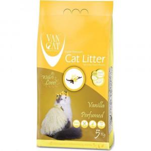 VAN CAT Compact Vanilla - cementējošas smiltis kaķu tualetei, ar vaniļu 5kg