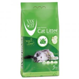 VAN CAT Compact Aloe Vera - cementējošas smiltis kaķu tualetei, ar alveju 5kg