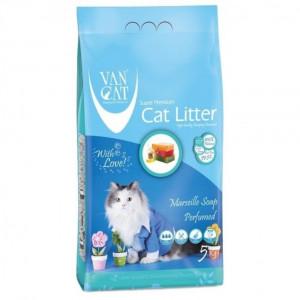 VAN CAT Compact Marseille Soap - cementējošas smiltis kaķu tualetei, ar Marseļas ziepes aromātu 5kg