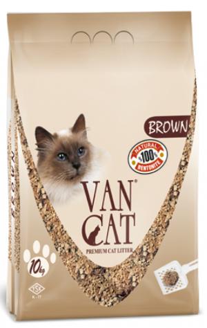 VAN CAT Compact Brown - cementējošas smiltis kaķu tualetei 10kg