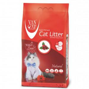 VAN CAT Compact - cementējošas smiltis kaķu tualetei, bez aromāta 15kg