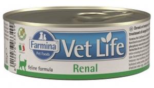 FARMINA VET LIFE Cat Renal - konservi kaķiem 6 x 85g