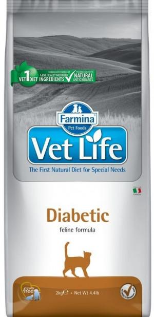FARMINA VET LIFE Cat Diabetic - sausā barība kaķiem 2kg
