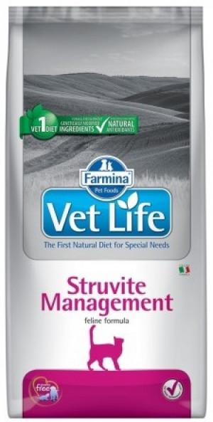 FARMINA VET LIFE Cat Management Struvite - sausā barība kaķiem 2 x 2kg