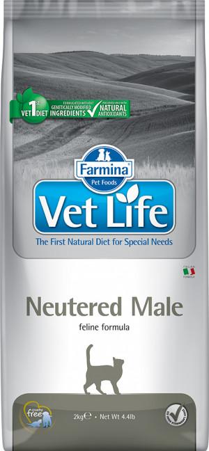 FARMINA VET LIFE Cat Neutered Male - sausā barība kaķiem 2kg