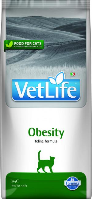 FARMINA VET LIFE Cat Obesity - sausā barība kaķiem 400g