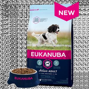 Eukanuba Adult Medium Chicken - sausā barība pieaugušiem vidējo sķirņu suņiem 3kg