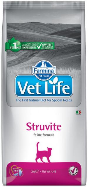 FARMINA VET LIFE Cat Struvite - sausā barība kaķiem 2 x 2kg