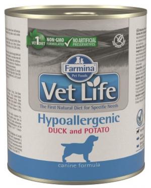 FARMINA VET LIFE Dog Hypoallergenic Duck & Potato - konservi suņiem 6 x 300g