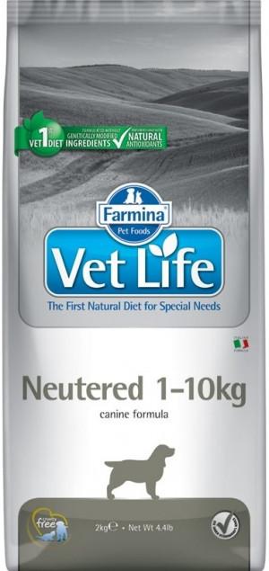 FARMINA VET LIFE Dog Neutered 1-10kg - sausā barība suņiem 2kg