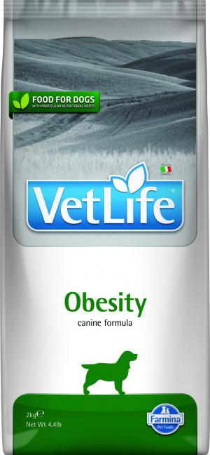 FARMINA VET LIFE Dog Obesity - sausā barība suņiem 2kg