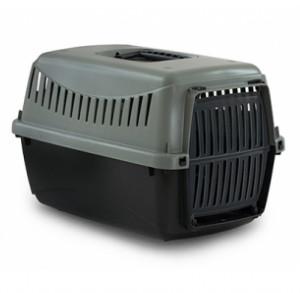 DUVO+ Gipsy Eco transportbox - konteiners dzīvnieku transportēšanani, pelēks/melns
