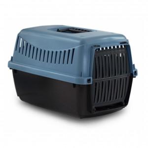 DUVO+ Gipsy Eco transportbox - konteiners dzīvnieku transportēšanani, zils/melns