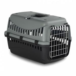 DUVO+ Gipsy eco transport box metal door Green S - konteiners dzīvnieku transportēšanani, zaļš/melns