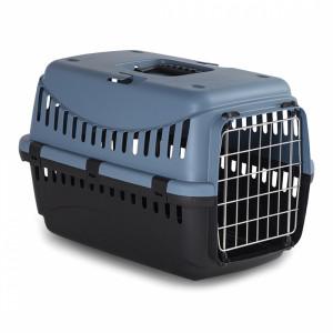 DUVO+ Gipsy eco transport box metal door Green L - konteiners dzīvnieku transportēšanani, pelēkzils