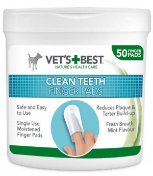 VET'S+BEST CLEAN  TETH salvetes N50