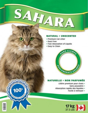 Sahara Natural Cat Litter - smiltis kaķu tualetei, bez aromāta 17kg