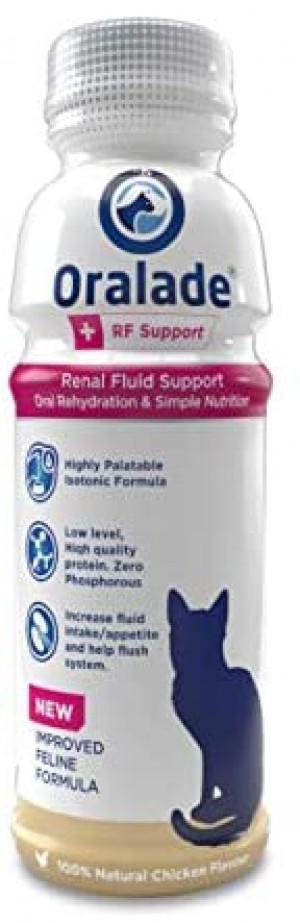 ORALADE RF SUPPORT 330ML  Specializēta šķidra papildbarība kaķiem ar nieru, urīnceļu un gremošanas trakta problēmām