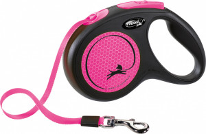 Flexi New Neon S 5m rozā (lenta)