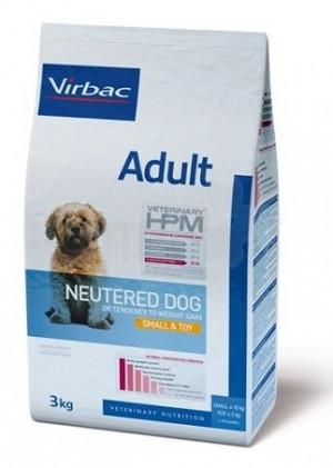 VIRBAC HPM Dog Adult Neutered Small & Toy - sausā barība suņiem 3kg