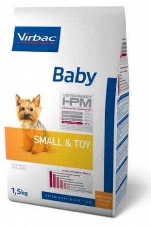 VIRBAC HPM Dog Baby Small & Toy - sausā barība suņiem 1.5kg