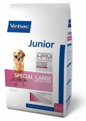 VIRBAC HPM Dog Junior Special Large Breed - sausā barība suņiem 7kg