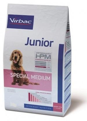 VIRBAC HPM Dog Junior Special Medium Breed - sausā barība suņiem 3kg