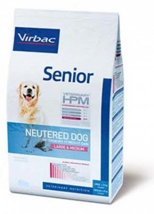 VIRBAC HPM Dog Senior Neutered Large & Medium Breed - sausā barība suņiem 7kg