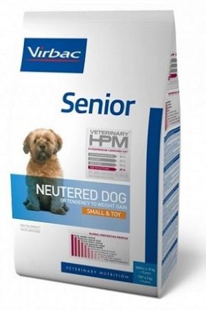 VIRBAC HPM Dog Senior Neutered Small & Toy - sausā barība suņiem 7kg