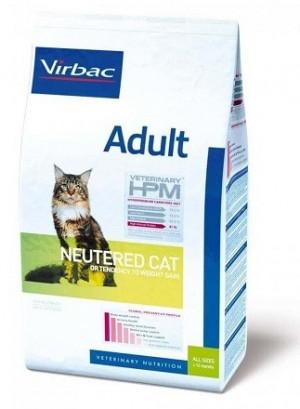 VIRBAC HPM Cat Adult Neutered - sausā barība kaķiem 7kg