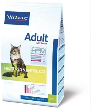 VIRBAC HPM Cat Neutered & Entire Cat with Salmon - sausā barība kaķiem 7kg