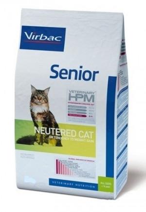 VIRBAC HPM Cat Senior Neutered - sausā barība kaķiem 7kg