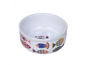 "NOBBY ""Fish"" - keramikas bļoda kaķiem, balta"